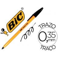 Boligrafo bic naranja negro