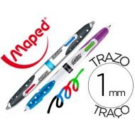 Boligrafo maped cuatro colores
