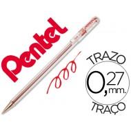 Boligrafo pentel bk-77 b rojo