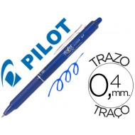 Boligrafo pilot frixion clicker borrable 0,7 mm color azul