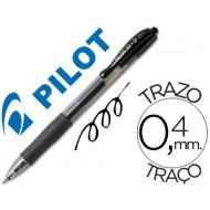 Boligrafo pilot g-2 negro tinta gel -retractil -sujecion de caucho