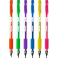 Boligrafos Tinta Gel Fluor Kores Pack 6 unidades
