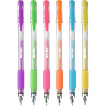 Boligrafos Tinta Gel Pastel Kores Pack 6 unidades