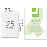 Bolsa de plastificar q-connect-110 x 75 mm -125 mc -carnet de identidad