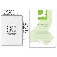 Bolsa de plastificar q-connect-325 x 220 mm -80 mc -folio
