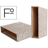 Caja archivador tamaño folio gris