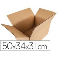 Caja para embalar q-connect americana medidas 500x340x310 mm espesor carton 5 mm