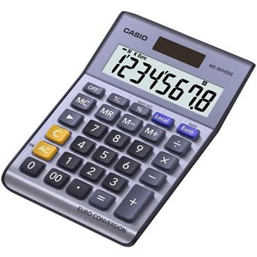 Calculadora casio sobremesa MS-80 versión II