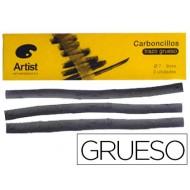 Carboncillo artist gruesos 7-9 mm caja de 3 barras