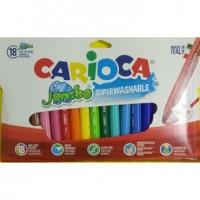 Rotulador Carioca Jumbo 18 colores punta gruesa