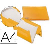 Carpeta beautone clasificador fuelle 32181 polipropileno din a4 naranja serie frosty 13 departamentos