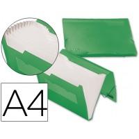 Carpeta beautone clasificador fuelle 32183 polipropileno din a4 verde serie frosty 13 departamentos