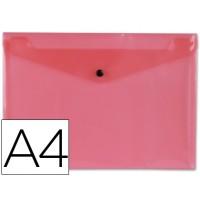 Carpeta beautone dossier broche 34040 polipropileno din a4 roja transparente -50 hojas