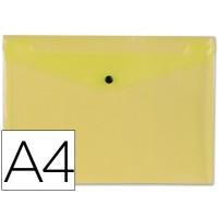 Carpeta beautone dossier broche 34041 polipropileno din a4 amarilla transparente -50 hojas