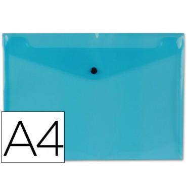 Carpeta beautone dossier broche 34042 polipropileno din a4 azul transparente -50 hojas