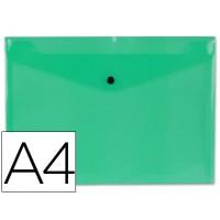 Carpeta beautone dossier broche 34043 polipropileno din a4 verde transparente -50 hojas
