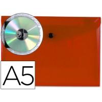 Carpeta beautone dossier broche 34350 polipropileno din a5 roja transparente