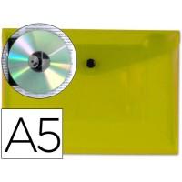 Carpeta beautone dossier broche 34351 polipropileno din a5 amarillo transparente