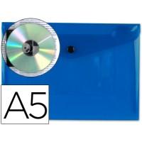 Carpeta beautone dossier broche 34352 polipropileno din a5 azul transparente
