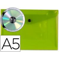 Carpeta beautone dossier broche 34353 polipropileno din a5 verde transparente