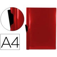Carpeta beautone dossier pinza lateral 45320 polipropileno din a4 rojo -60 hojas -pinza deslizante