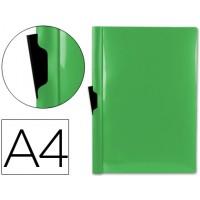 Carpeta beautone dossier pinza lateral 45323 polipropileno din a4 verde -60 hojas -pinza deslizante