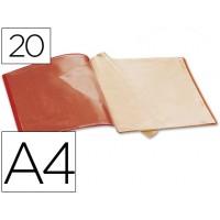 Carpeta beautone escaparate 20 fundas polipropileno din a4 roja