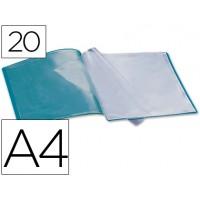 Carpeta beautone escaparate 20 fundas polipropileno din a4 verde