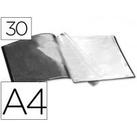 Carpeta beautone escaparate 30 fundas polipropileno din a4 negra