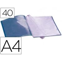 Carpeta beautone escaparate 40 fundas polipropileno din a4 azul
