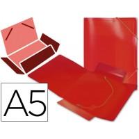 Carpeta beautone gomas solapas polipropileno din a5 roja