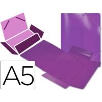 Carpeta beautone gomas solapas polipropileno din a5 violeta