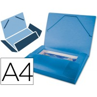 Carpeta beautone portadocumentos  polipropileno din a4 azul serie frosty lomo 25 mm