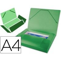 Carpeta beautone portadocumentos  polipropileno din a4 verde serie frosty lomo 25 mm