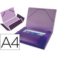Carpeta beautone portadocumentos polipropileno din a4 violeta serie frosty lomo 25 mm