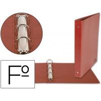 Carpeta de 4 anillas 40mm redondas liderpapel folio carton cuero