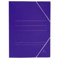 Carpeta gomas folio 3 solapas Cartón color Azul