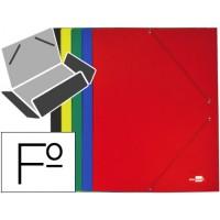 Carpeta liderpapel gomas folio 3 solapas carton plastificado colores surtidos