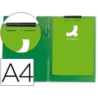Carpeta q-connect miniclips plastico din a4 verde