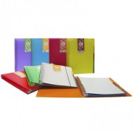 Carpeta 20 fundas extraibles In & Out A4 translúcida color amarillo