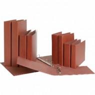 Carpeta de 2 anillas 25mm mixtas liderpapel folio carton cuero