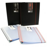 Carpeta 25 fundas extraibles In & Out Index color negro