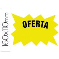 Cartel cartulina etiquetas marcaprecios amarillo fluorescente 160x110 mm -bolsa de 50 etiquetas