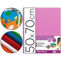 Carton ondulado liderpapel 50 x 70cm 320g/m2 rosa