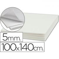 Carton pluma liderpapel adhesivo 1 cara 100x140 cm espesor 5 mm.