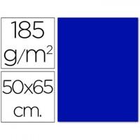 Cartulina 50x65 cm 180g/m2 azul oscuro
