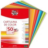 Cartulina Colores Surtidos Fuertes II FixoPaper Din-A4 Pack 50