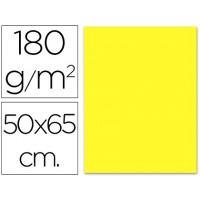 Cartulina 50x65 cm 180g/m2 amarillo claro