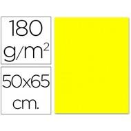 Cartulina 50x65 cm 180g/m2 amarillo limon