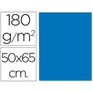 Cartulina 50x65 cm 180g/m2 azul